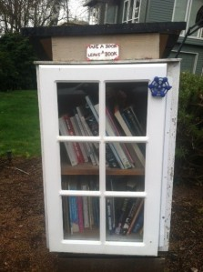 The Carlson Court Little Free Library is located on Carlson Court in Lake Oswego and currently offers titles for old and young alike including, The Very Lazy Ladybug, Where the Wild Things Are, Siddhartha and The Guardian by Nicholas Sparks.
