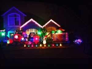 Christmas is on display in Westlake.