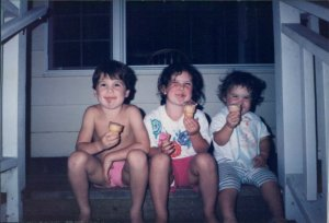 Great summer weather gave my kids plenty of excuses to just sit on the porch and enjoy ice cream cones too.