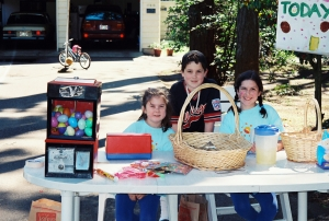 Neighborhood lemonade stands are one of the things that will disappear with summer so support your local entrepreneurs while you can. Back in the day our kids put in their time peddling their goods.