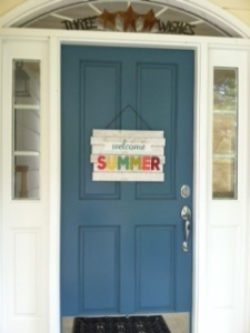 Despite back-to-school week, my front door is still welcoming summer and so should you while you can.